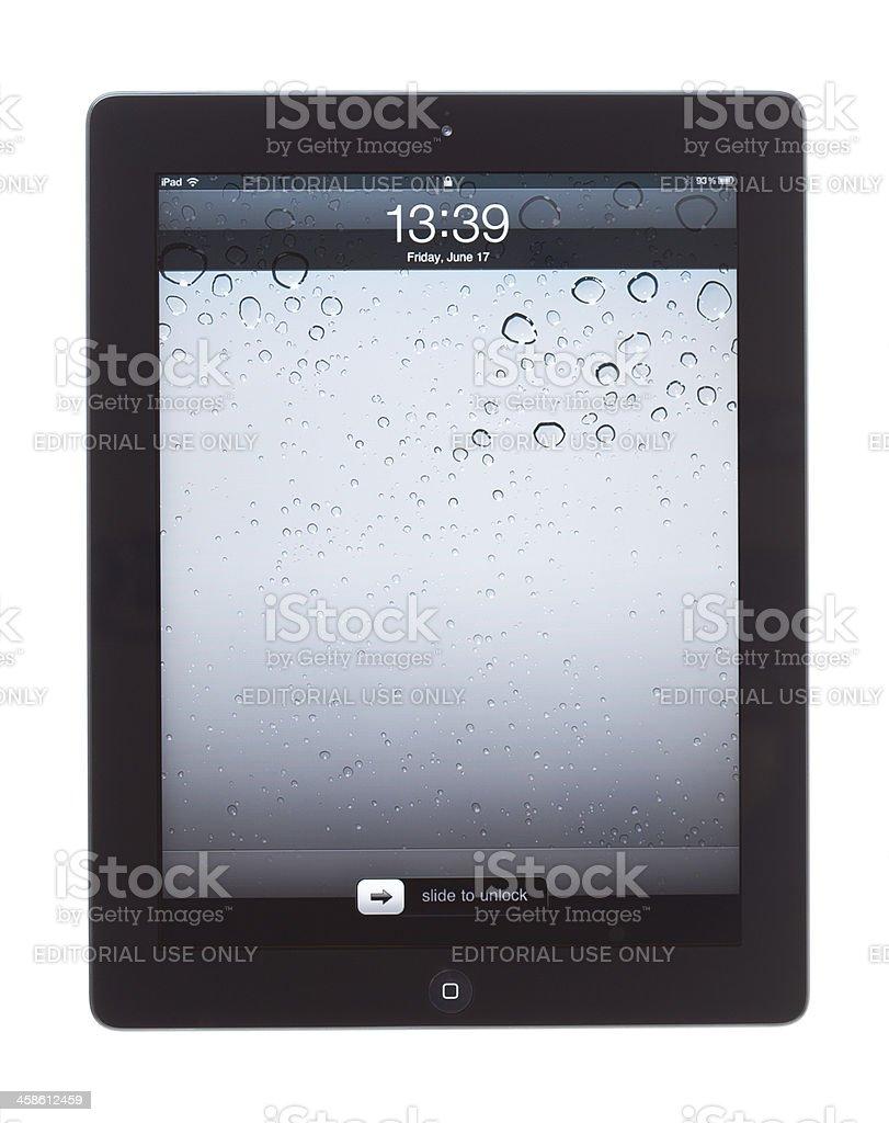ipad unlock screen royalty-free stock photo