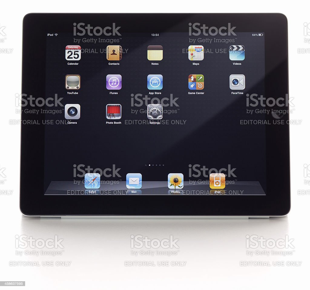 iPad with black background and clipping paths royalty-free stock photo