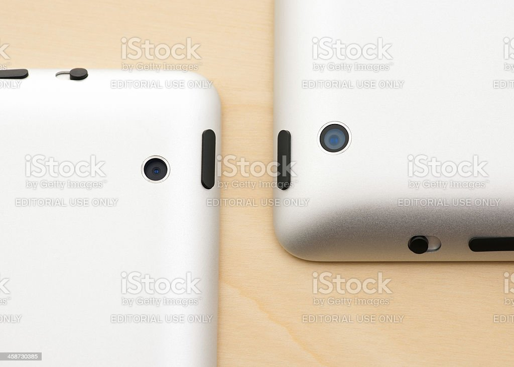 IPad2 and New IPad 3 Camera Lens Comparison royalty-free stock photo