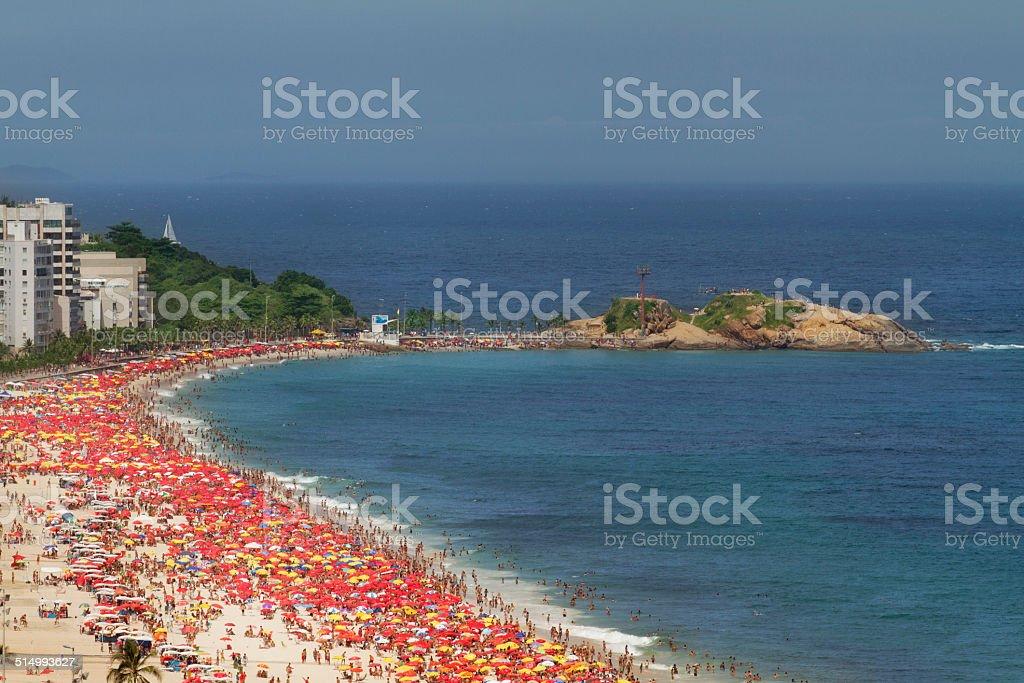 Ipanema and Arpoador Beaches stock photo