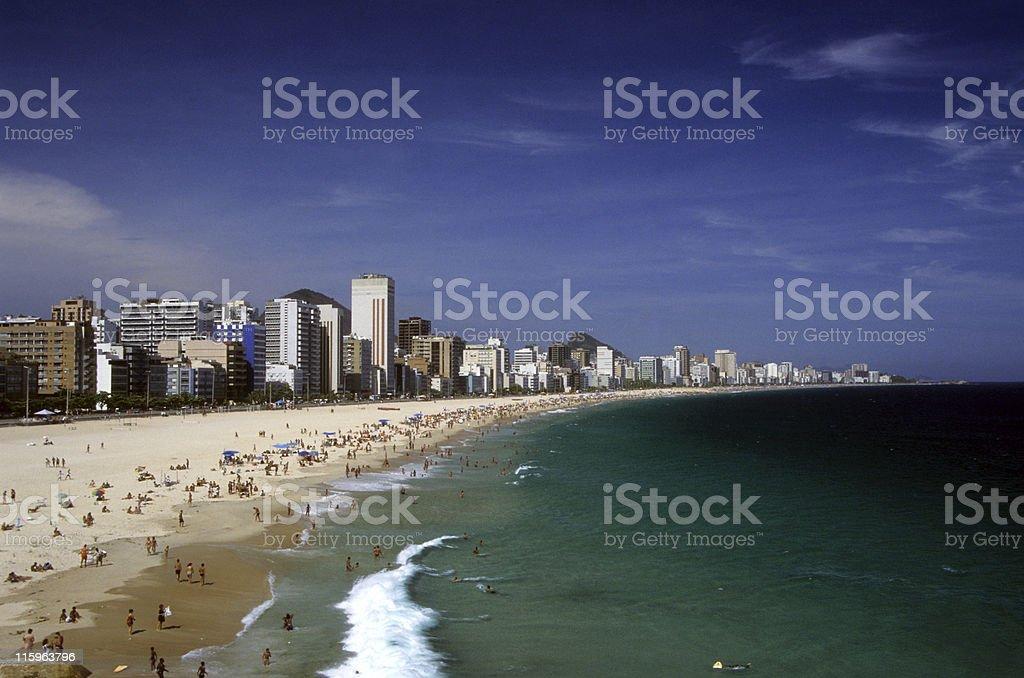 Ipanema and Leblon beaches stock photo