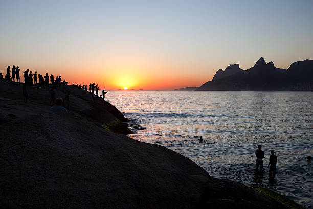 Ipanema at Sunset, Rio de Janeiro stock photo