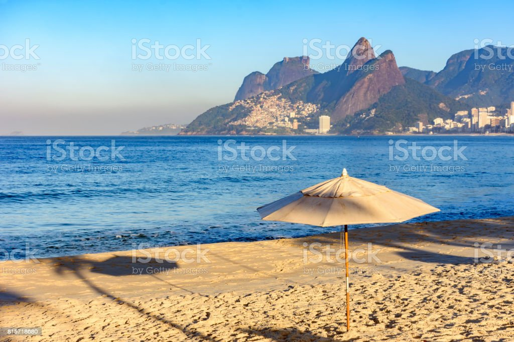 Ipanema beach at morning stock photo