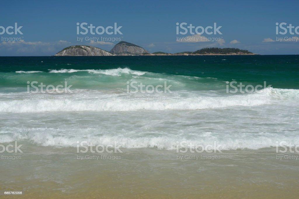 Ipanema Beach / Cagarras foto stock royalty-free