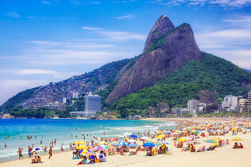 Ipanema Beach In Rio De Janeiro Brazil Stock Photo - Download Image Now -  iStock