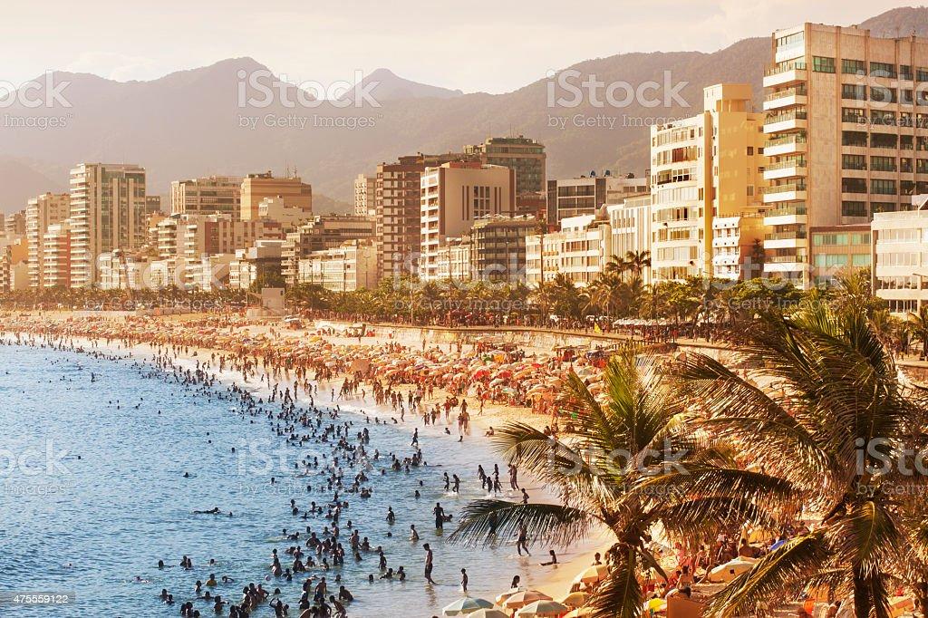 Ipanema beach in Rio de Janeiro stock photo