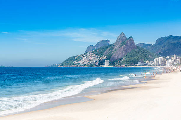 Ipanema Beach in the morning,Rio de Janeiro Ipanema Beach in the morning in Rio de Janeiro, Brazil lagoa rio de janeiro stock pictures, royalty-free photos & images