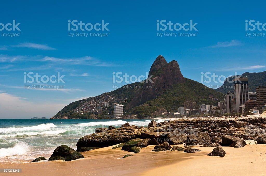 Ipanema Beach on Sunny Summer Day stock photo