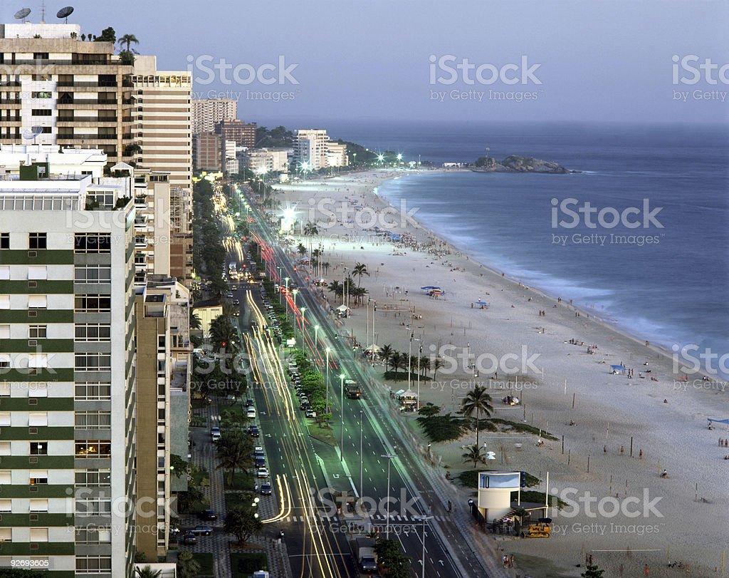 Ipanema Beach royalty-free stock photo