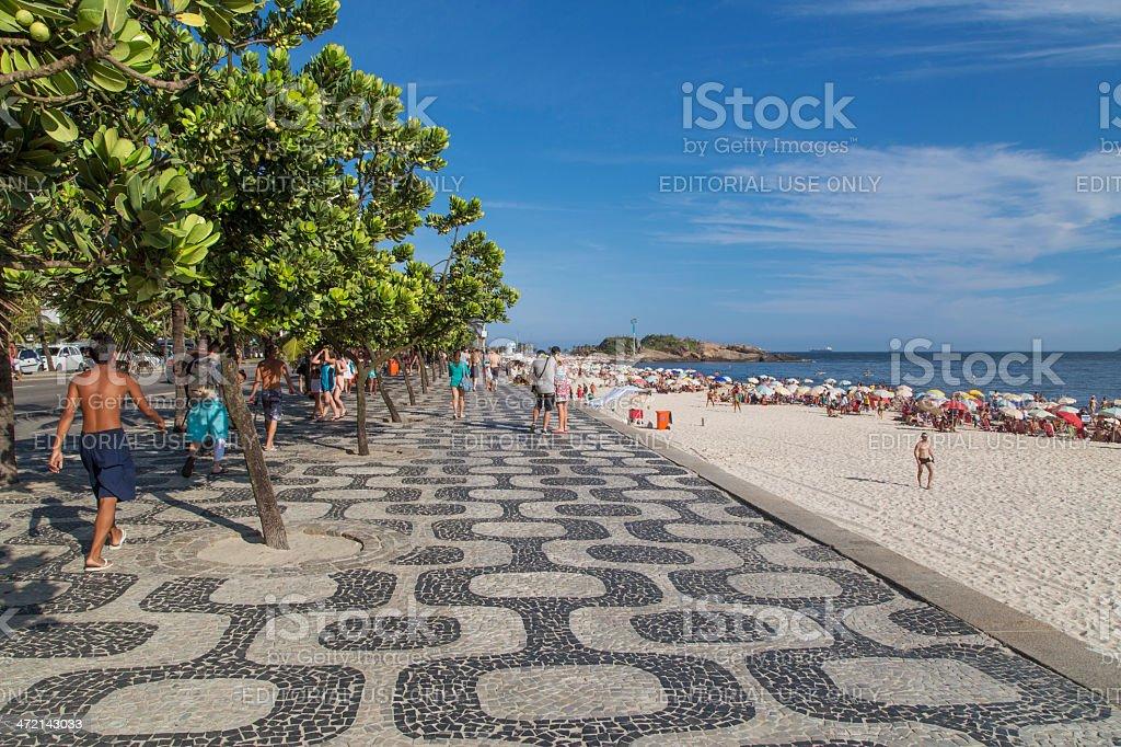 Ipanema Beach sidewalk royalty-free stock photo