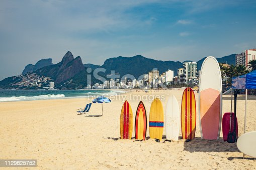 Sunny day on Arpoadar Beach, the end of Ipanema where there is surfing