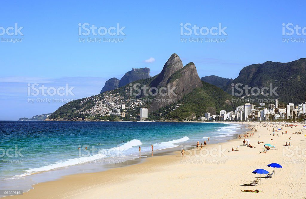 ipanema leblon beach in rio de janeiro brazil stock photo