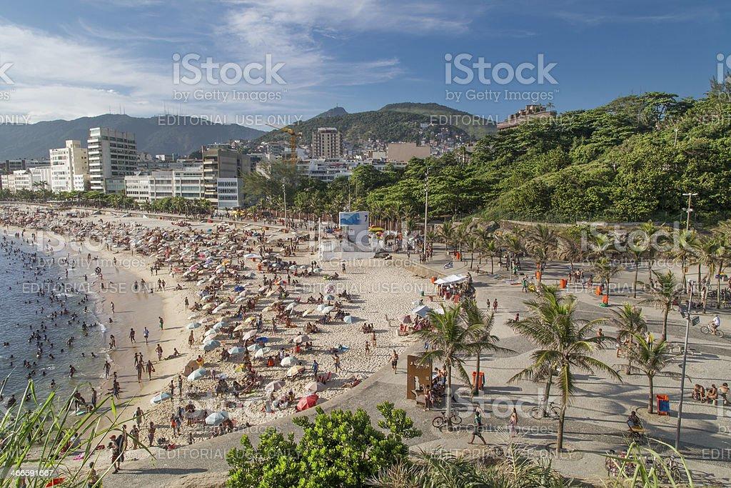 Ipanema Park and Arpoador Beach royalty-free stock photo
