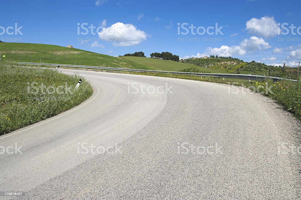 iphill road royalty-free stock photo