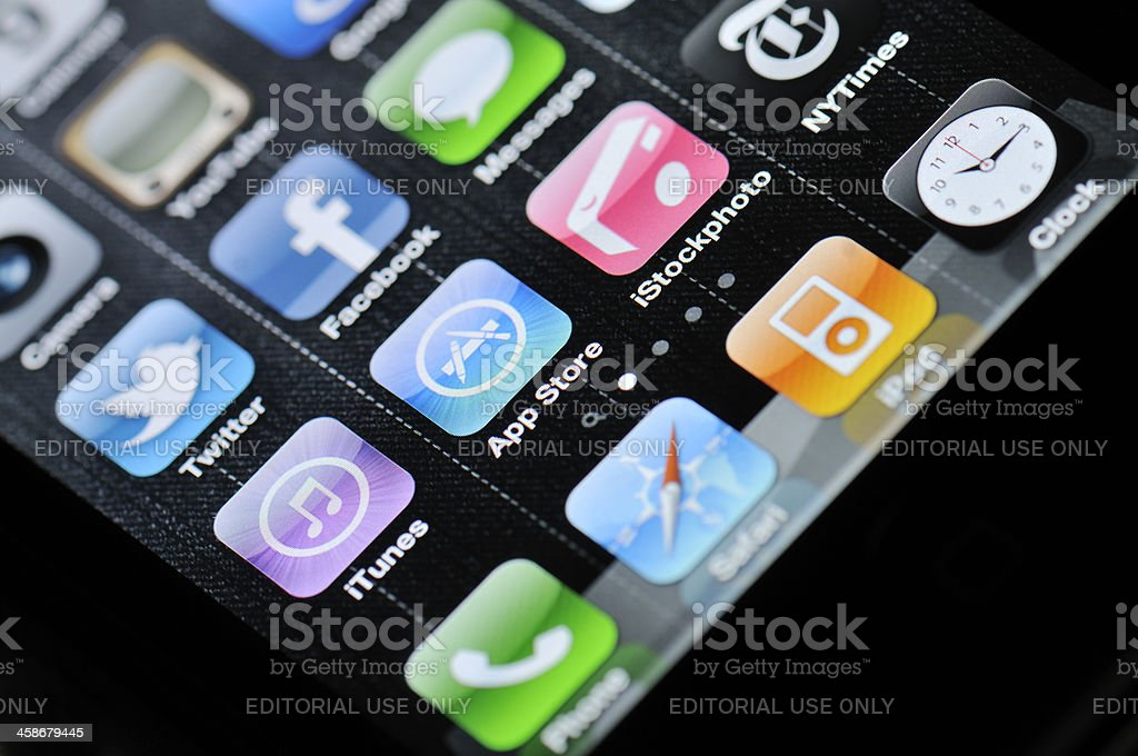 iPhone 4 Apps royalty-free stock photo