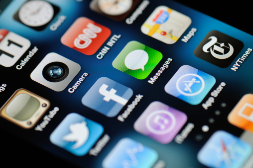 Iphone 4 Apps Stock Photo - Download Image Now
