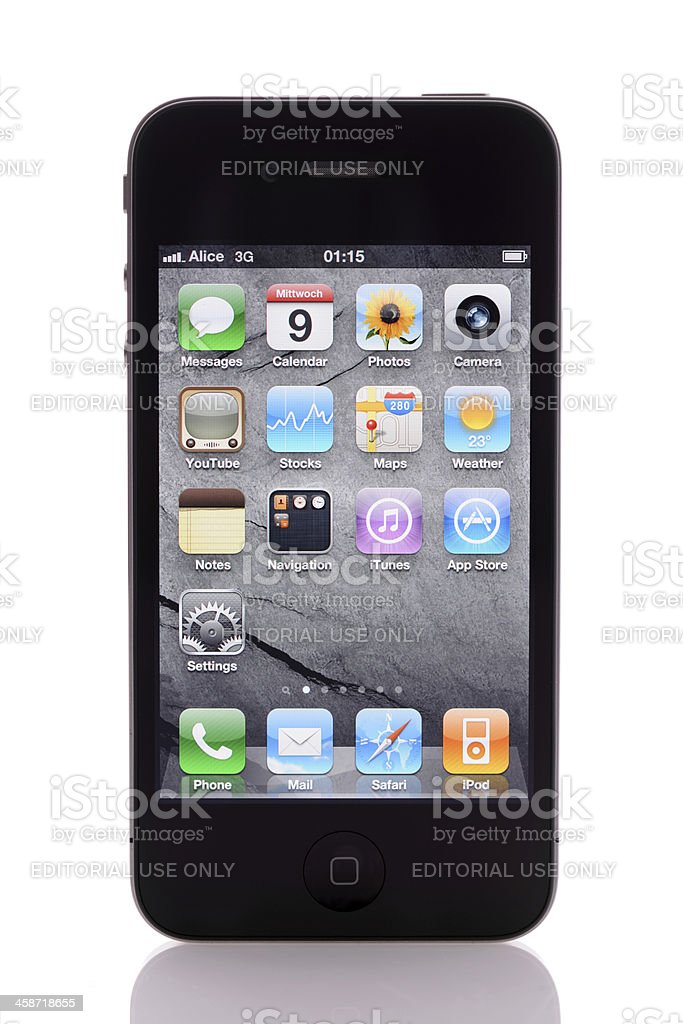 iPhone 4 isolated royalty-free stock photo