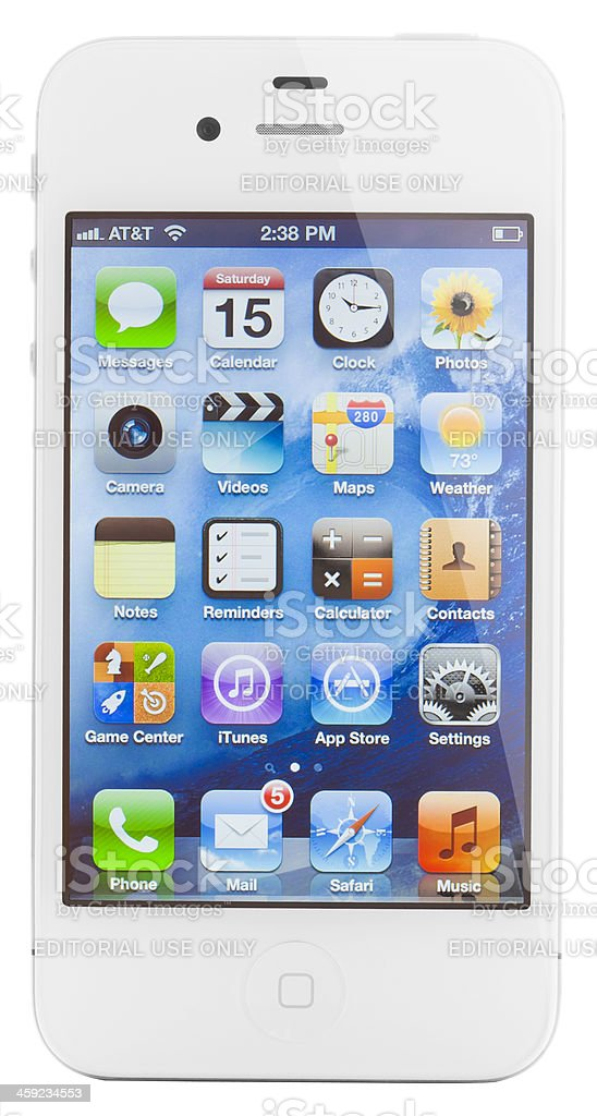 iPhone 4S royalty-free stock photo