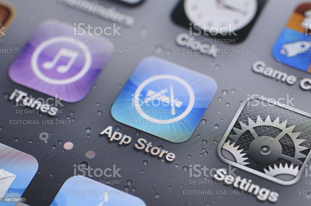 iPhone 4s screen stock photo