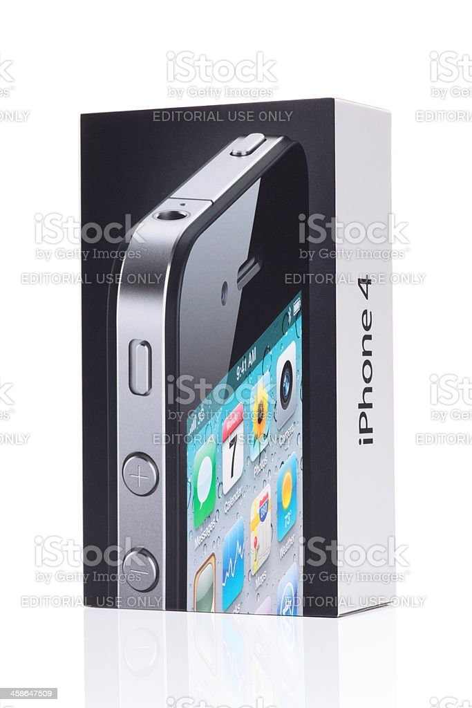 iPhone 4th generation by Apple Inc. stock photo