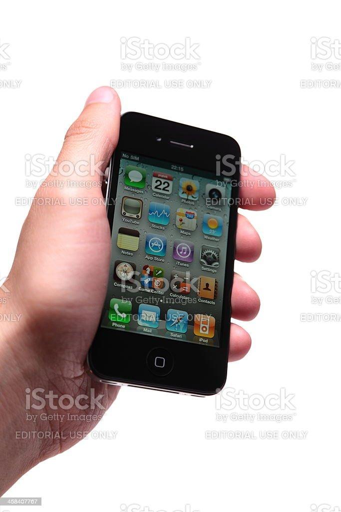 Iphone De Cuarta Generación En Mano Humana - Fotografía de stock y ...