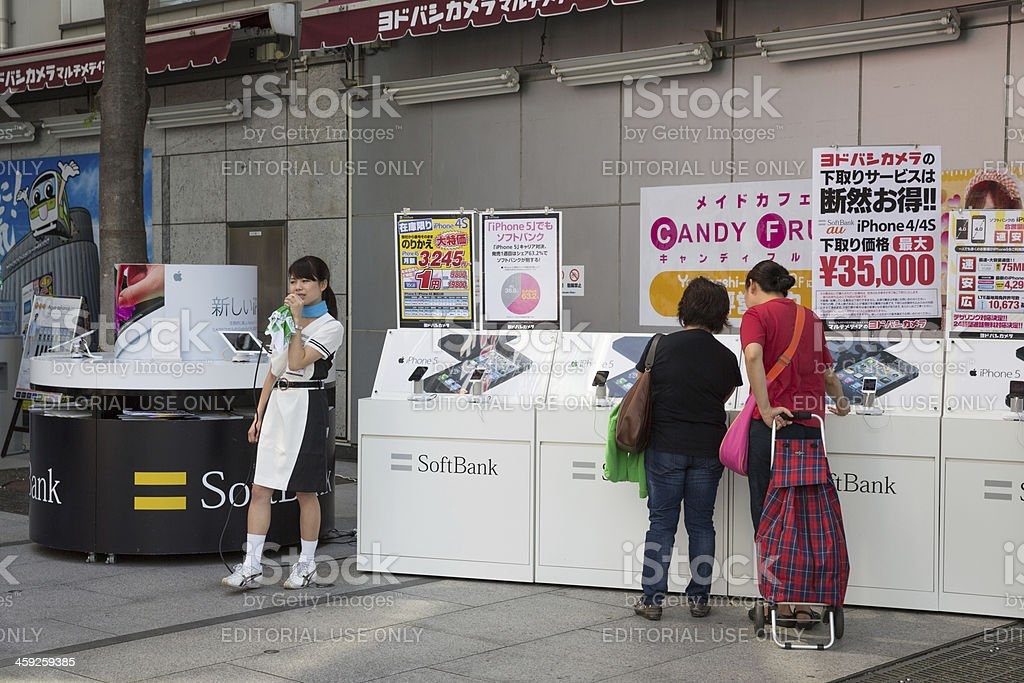 iPhone 5 in Japan stock photo