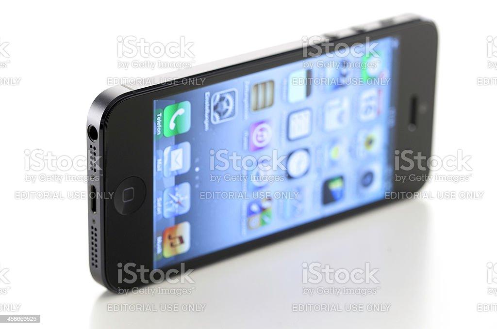 iPhone 5 on white stock photo