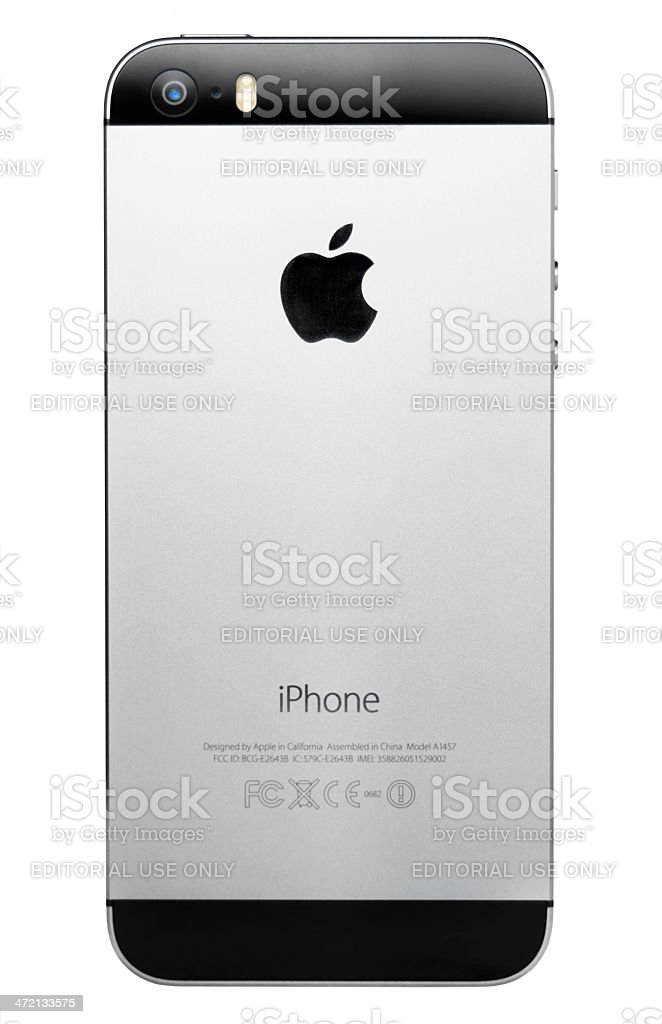 iPhone 5s Back stock photo