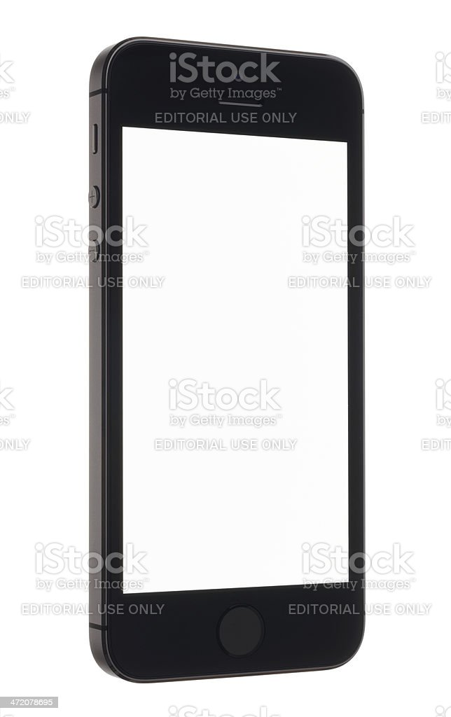 iPhone 5s with a Blank Screen stock photo