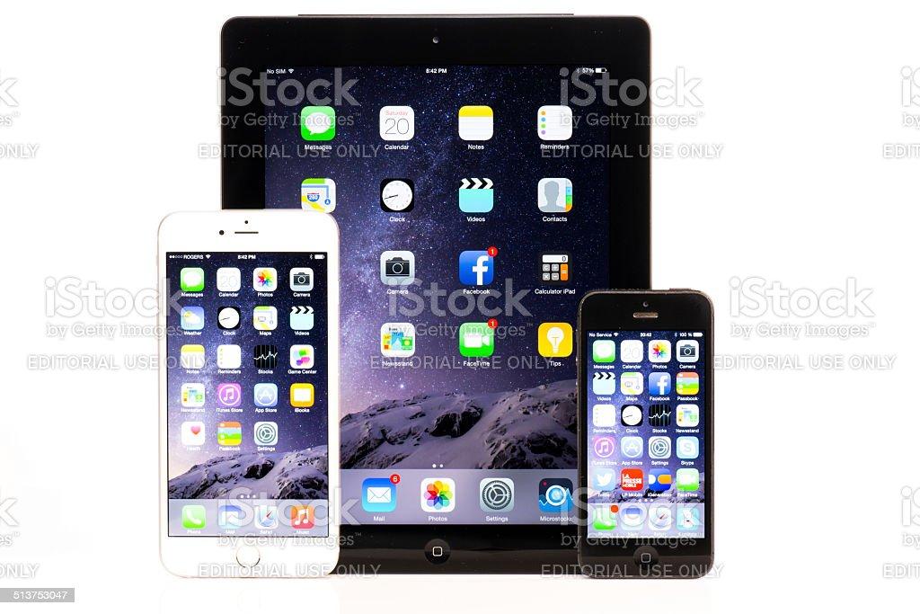 Pour Iphone 6 Plus Et Iphone 5 Ipad Comparaison Sur Fond Blanc