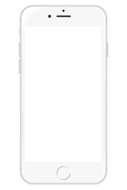 IPhone 6 - White stock photo