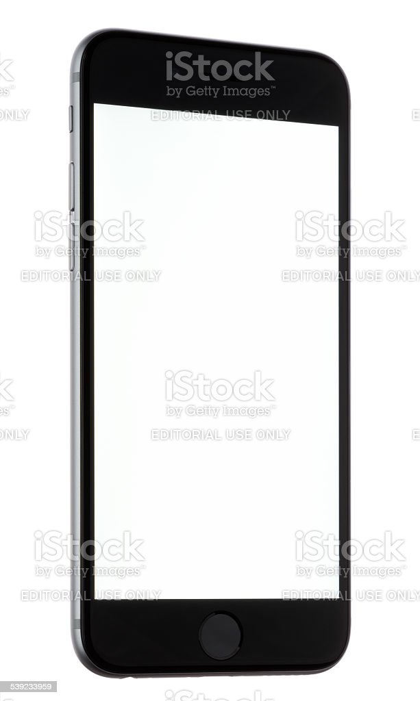 iPhone 6 with a Blank Screen royalty-free stock photo