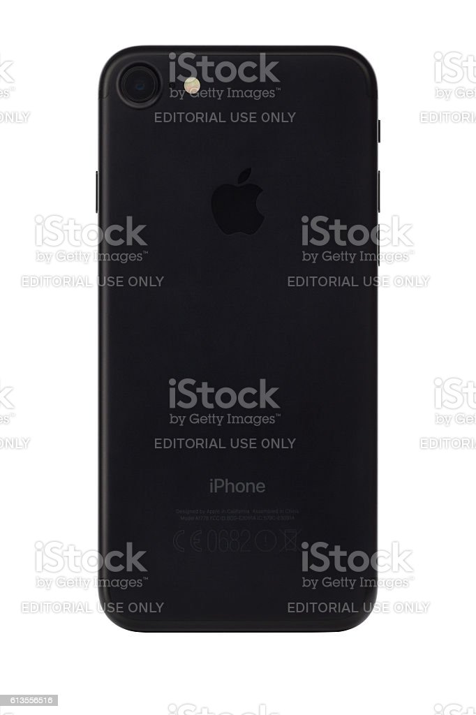 iPhone 7 back panel with clipping path stock photo