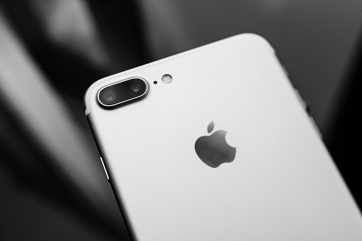 iPhone 7 Plus black and white