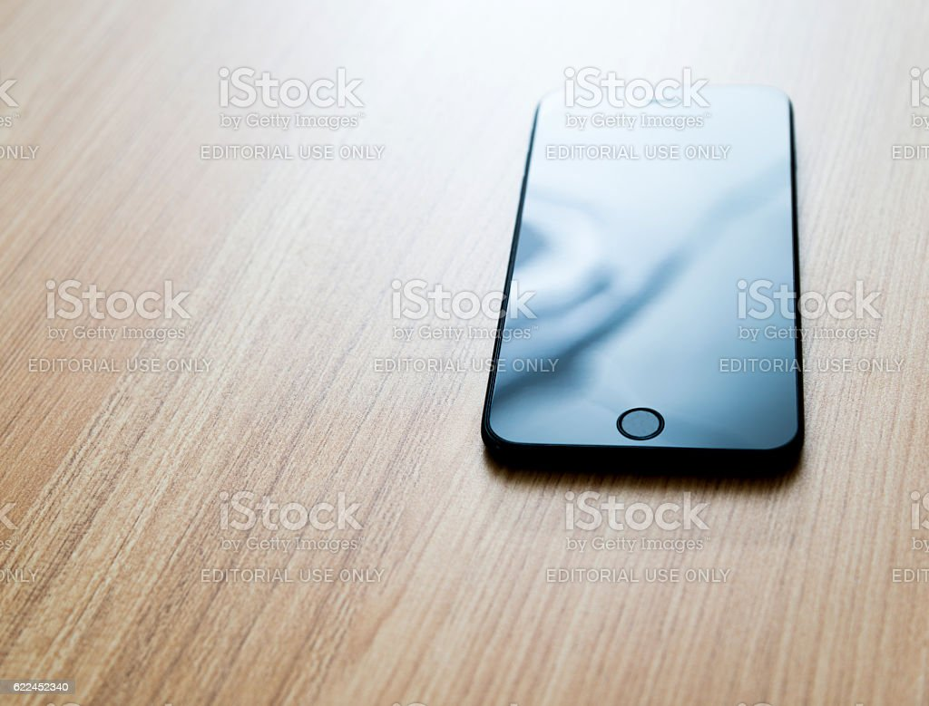 Iphone 7 Plus Clone With Blank Screen On Desk Stock Photo
