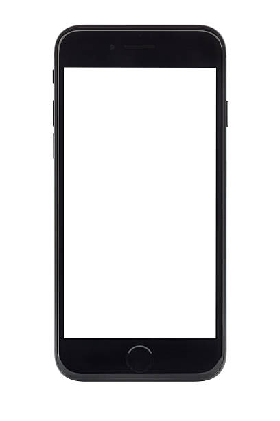 iPhone 7 with blank screen stock photo