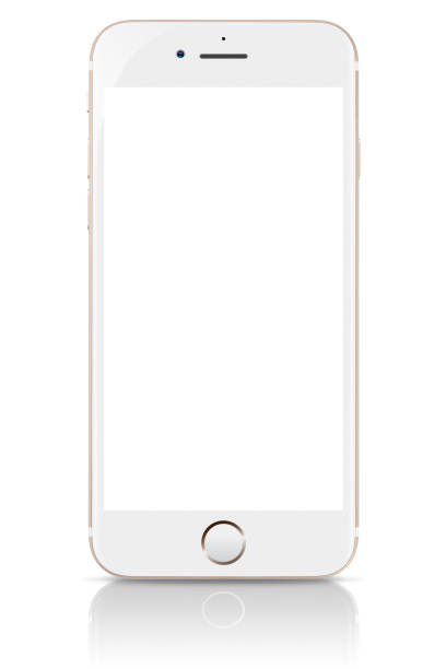 iPhone 8 Gold with Blank Screen stock photo