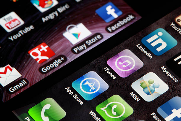 iphone and android - app store stock photos and pictures