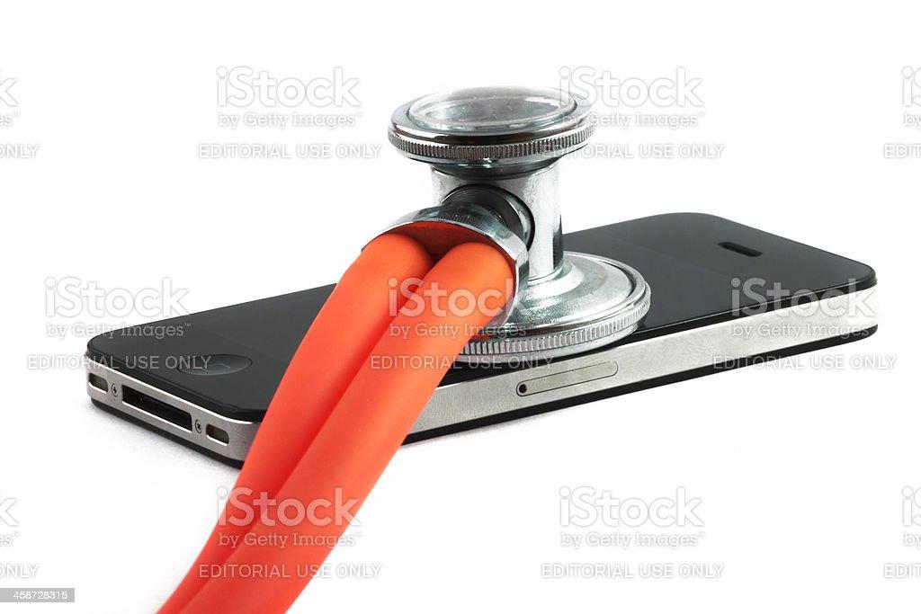 iPhone Healthcare stock photo