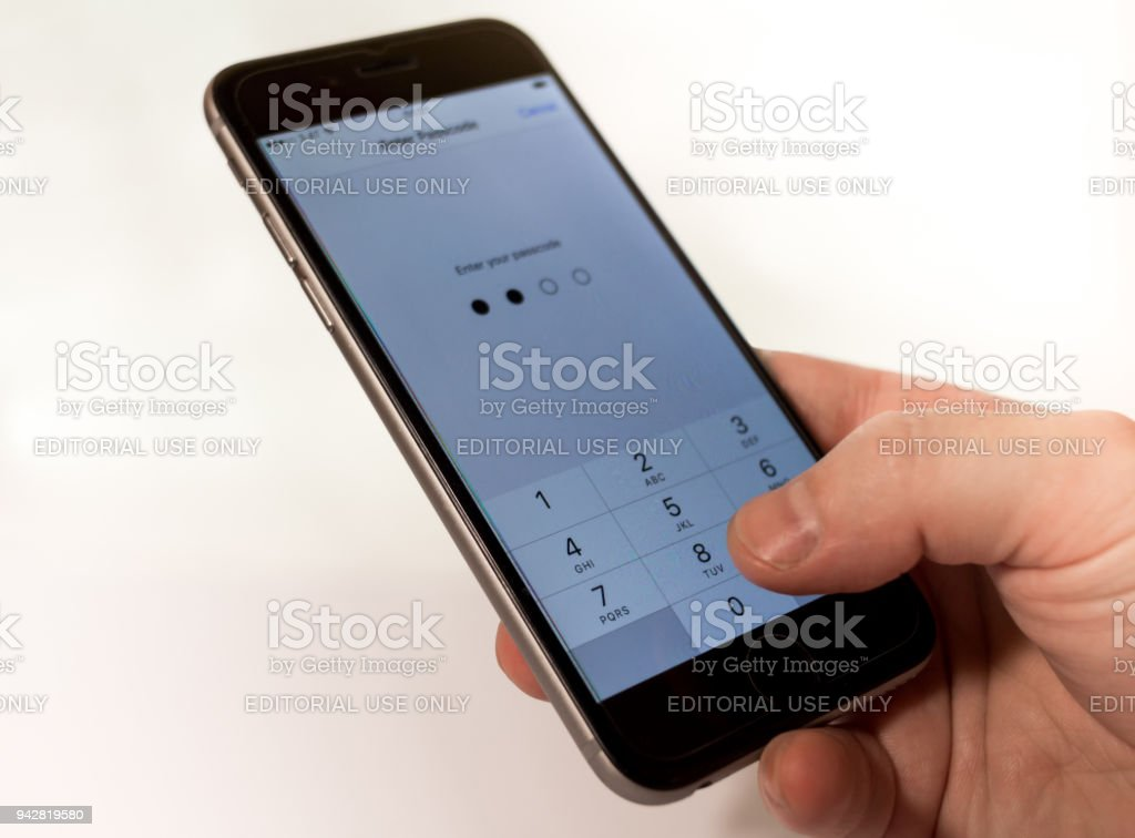 Iphone icloud bypass stock photo