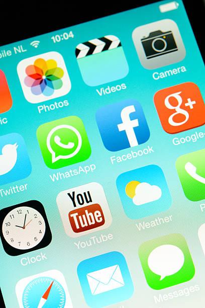 iphone ios7 - videos für whatsapp stock-fotos und bilder