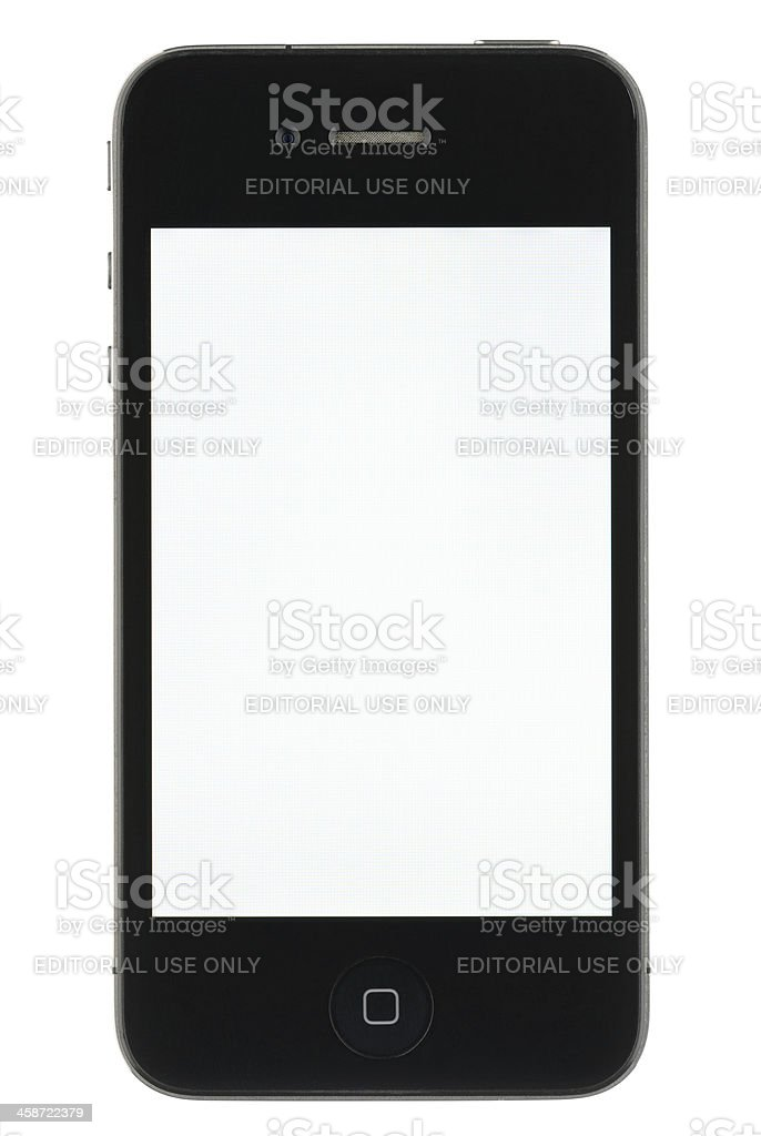 iPhone with a Blank Screen royalty-free stock photo