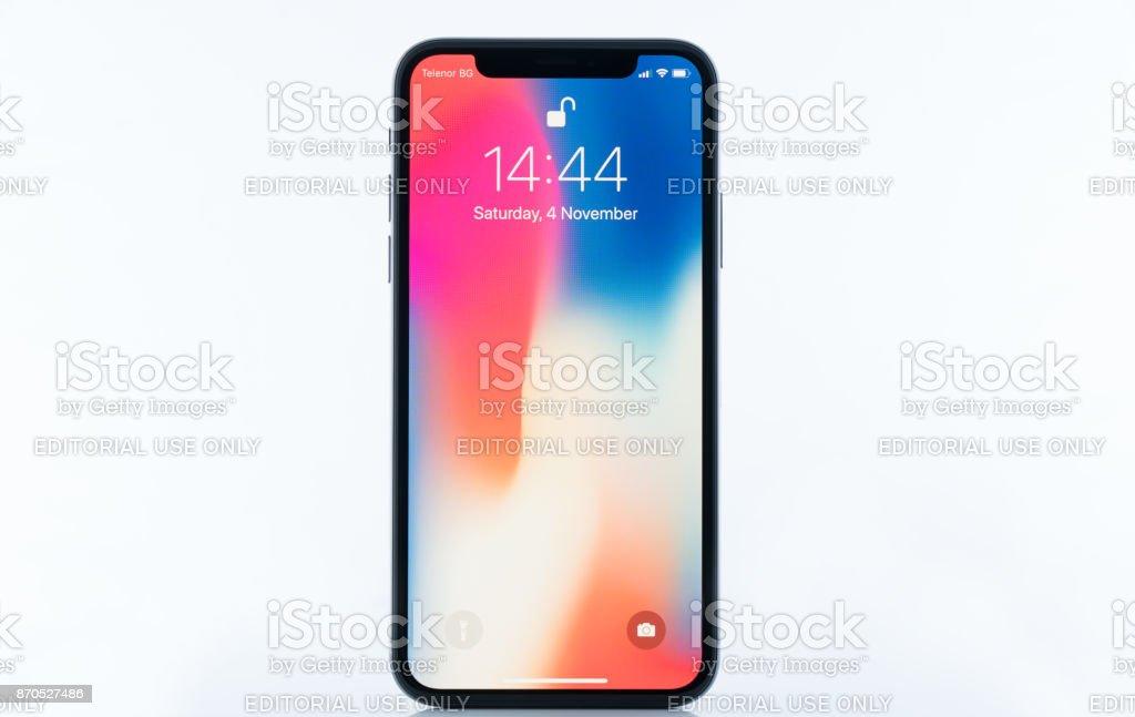 iPhone X stock photo
