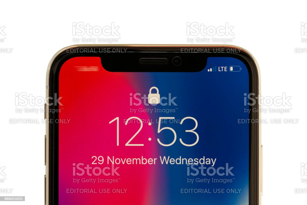 Iphone X Silver stock photo
