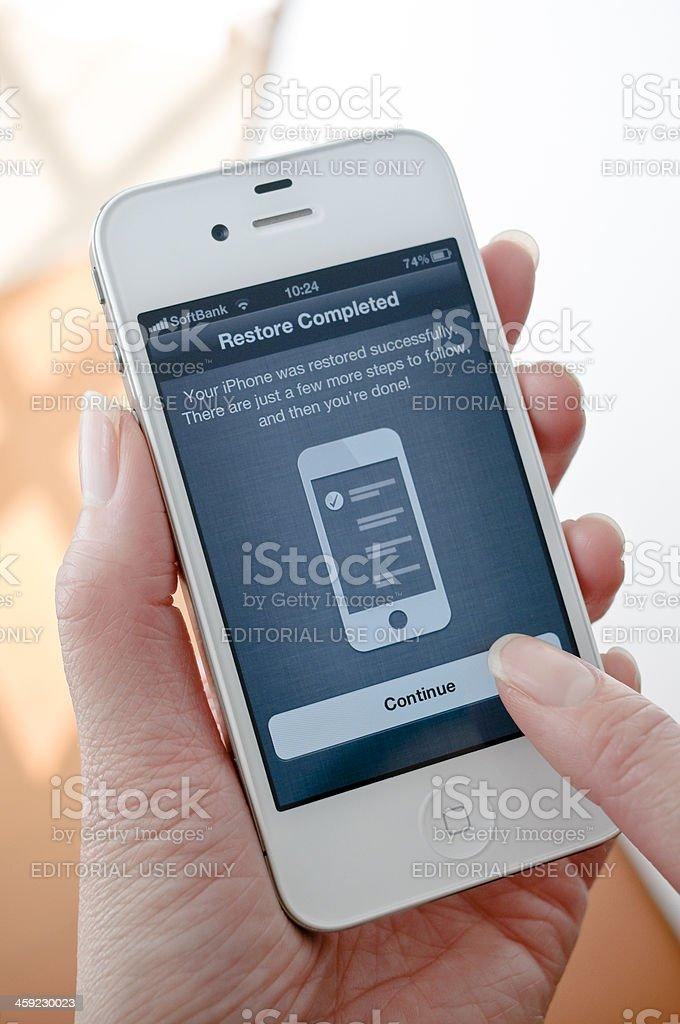 iPhone4 White stock photo