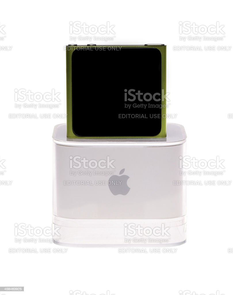 iPod Nano and original package stock photo