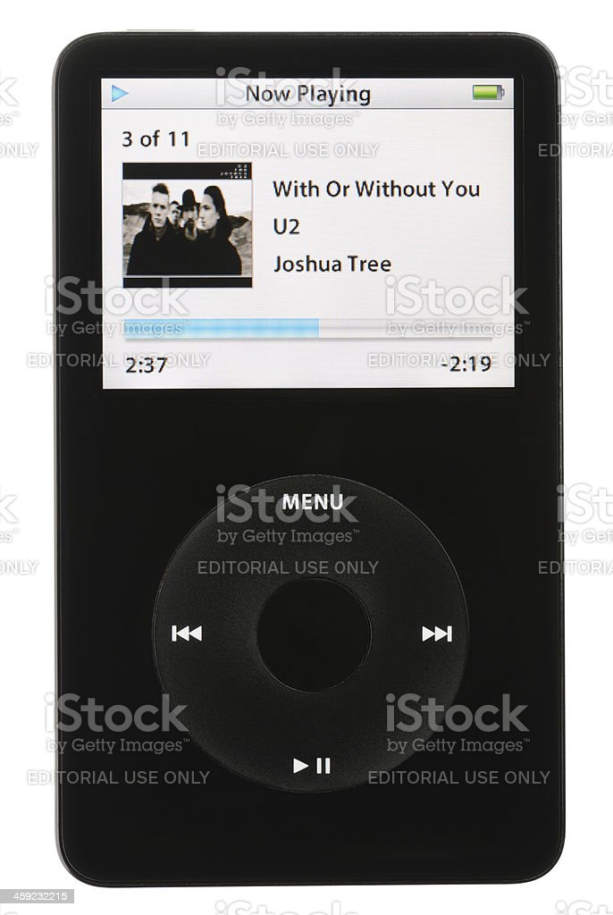 iPod Playing Music royalty-free stock photo