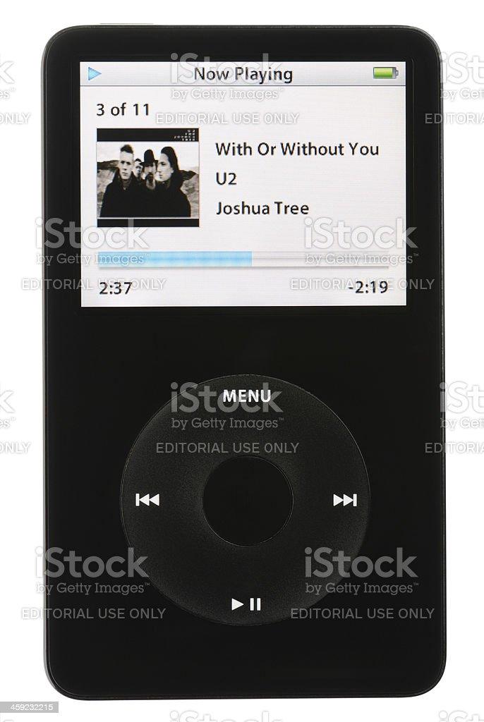 iPod Playing Music stock photo