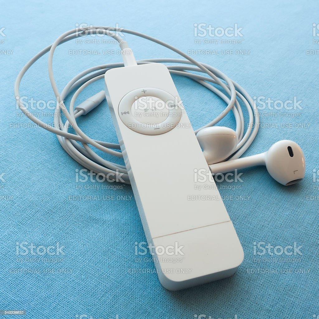 iPod Shuffle Closeup stock photo
