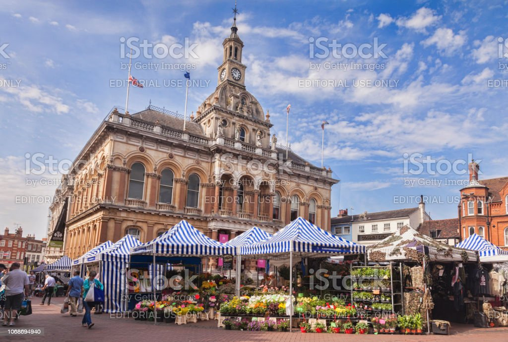 Ipswich Corn Exchange, Suffolk, UK stock photo